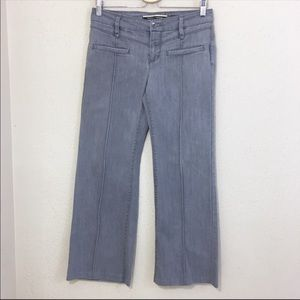 Anthropologie Jeans Wide Leg Gray Size 8